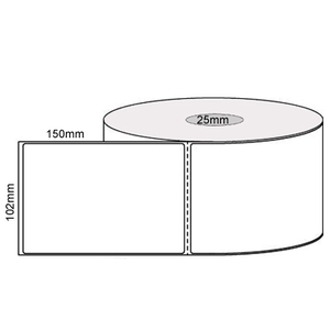 Thermal Perm Label Roll (102mm x 150mm)